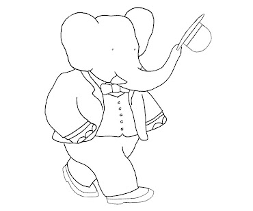 #5 Babar Coloring Page