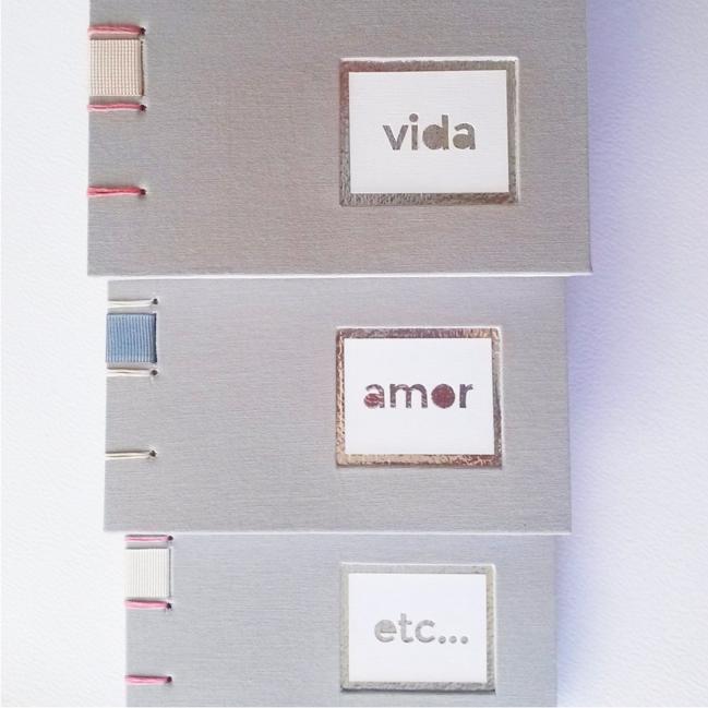 Cuaderno Línea PALABRAS - vida amor etc - Proyecto Filigrana