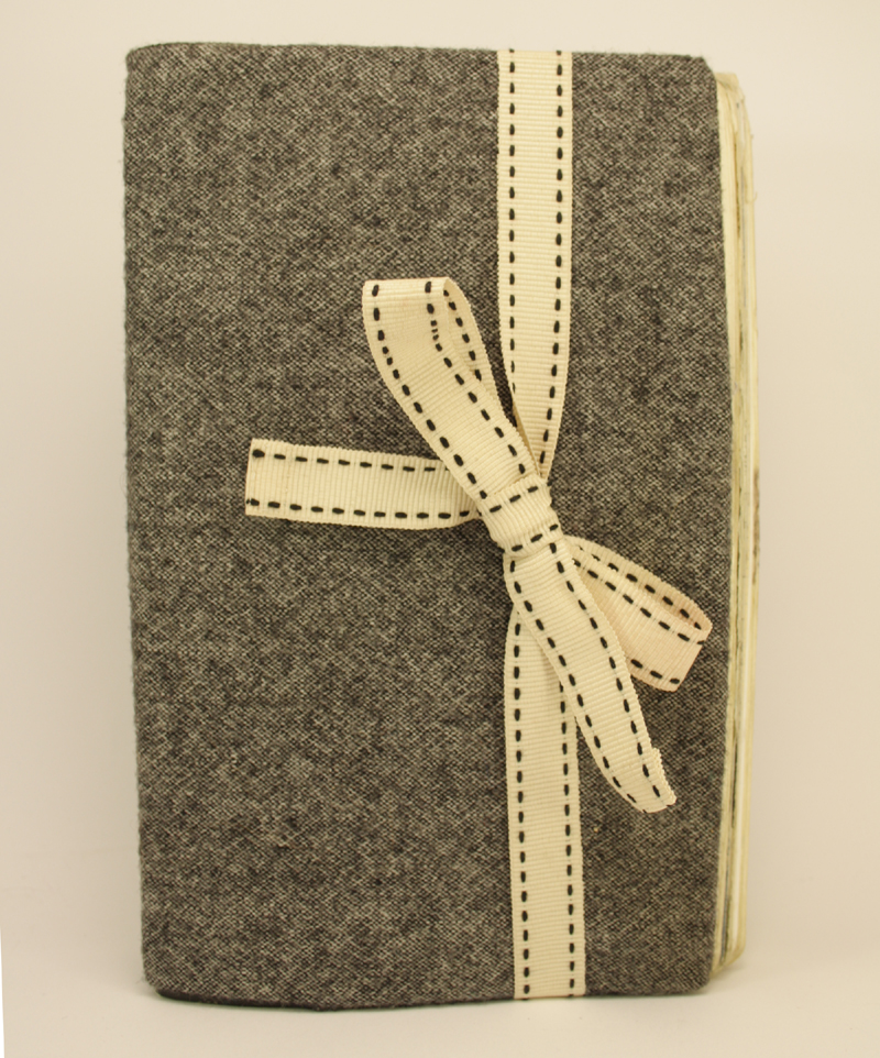 A moleskine book I covered in the leg of a pair of old tweed trousers