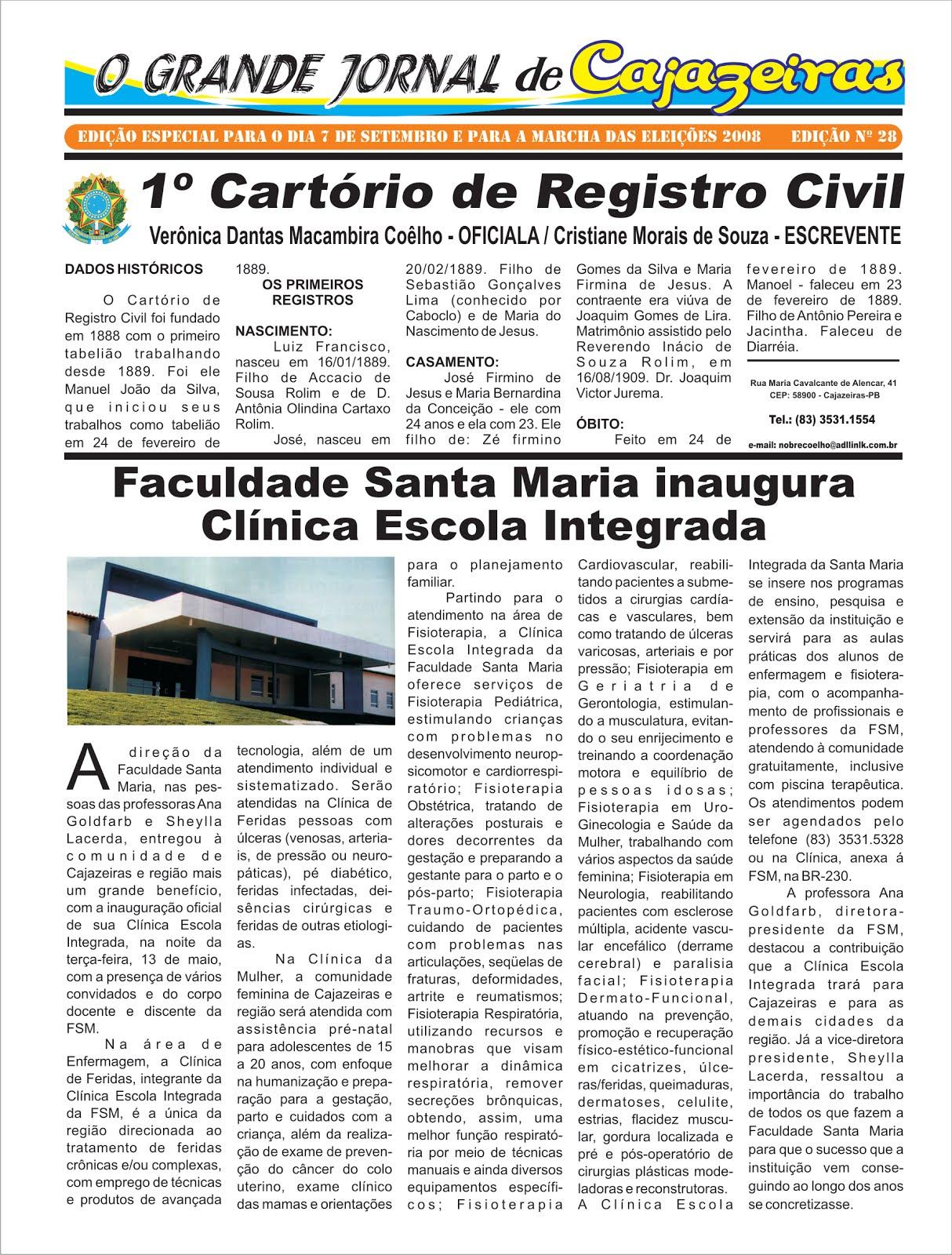FOI REPRISADO  ESTA FOLHA  DE GRANDE JORNAL DE CAJAZEIRAS PB