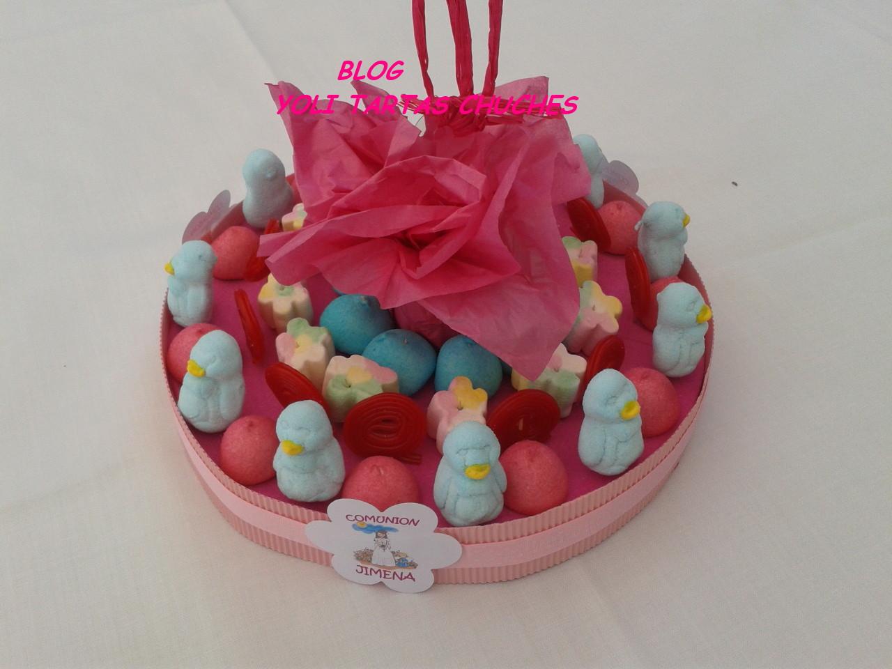 Yoli tartas chuches candy bar para jimena - Centros de mesa de chuches ...