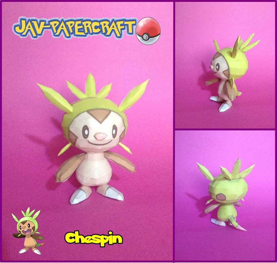 Pokemon Chespin Papercraft
