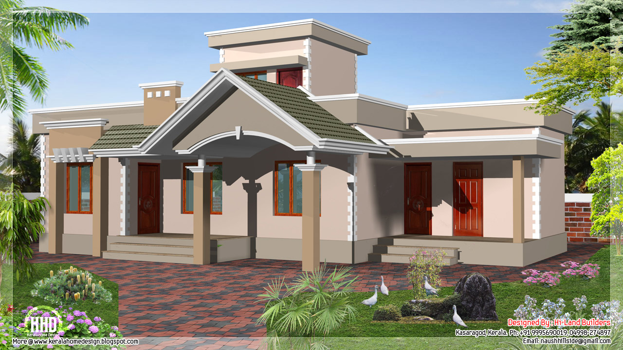 1250 square feet one floor budget house indian house plans for One floor house plans