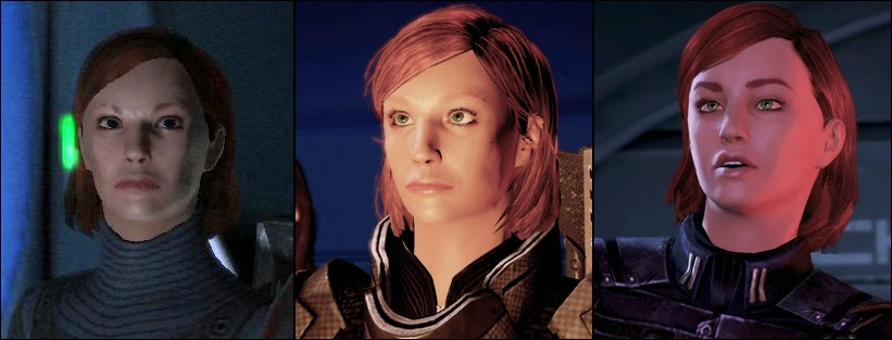 Three Commanders Shepard, one character.