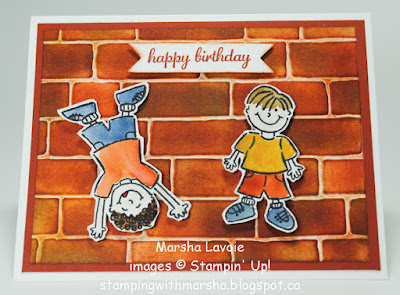 brick wall express yourself stampin up