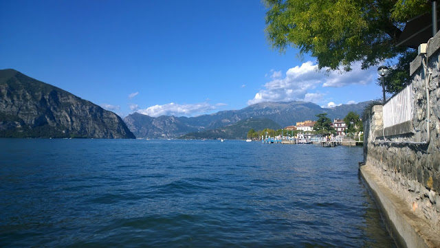 View over Lago d'Iseo from Iseo