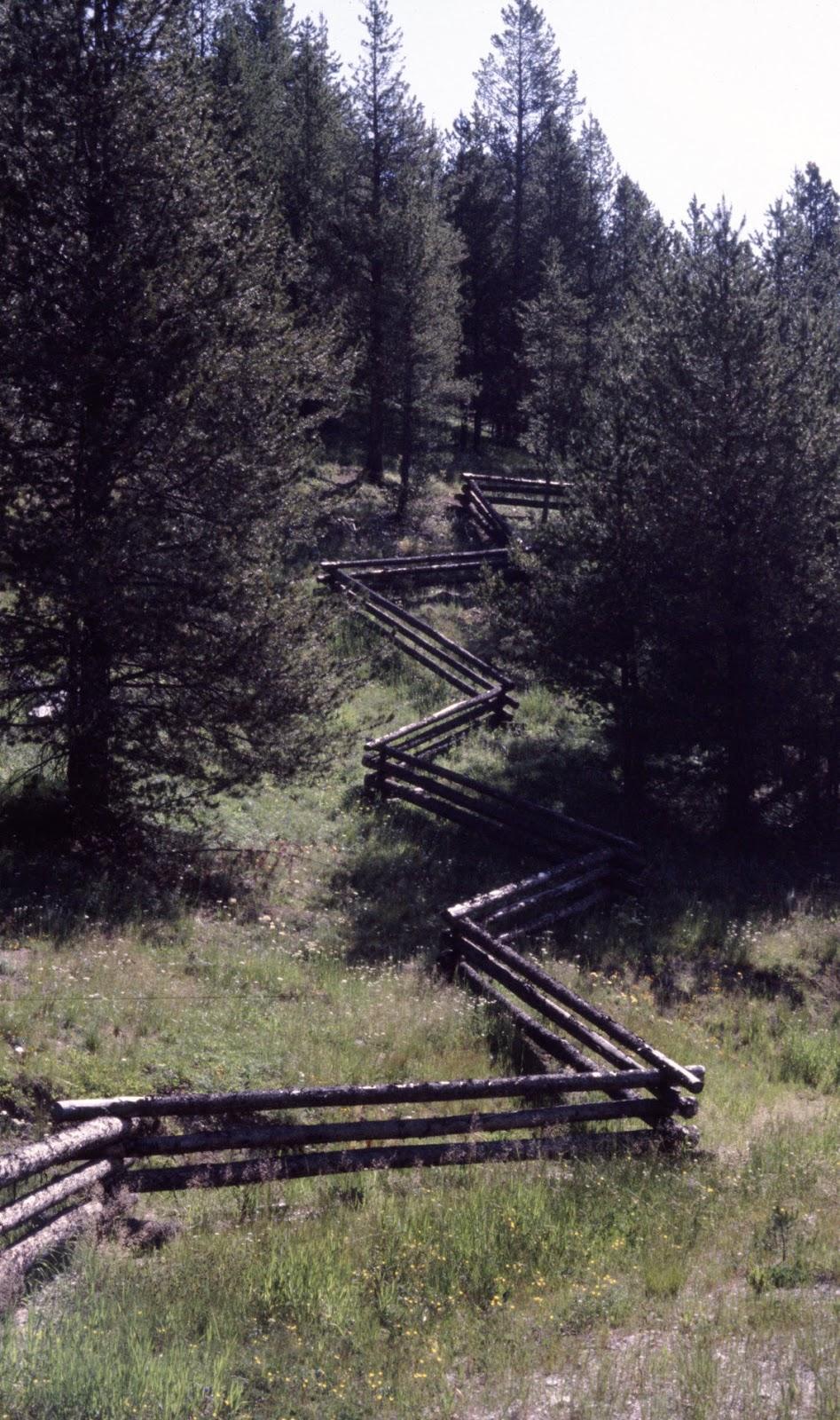 Zigzag rail fence