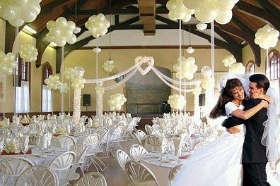 Decoraci n de bodas con globos for Opciones de techos economicos