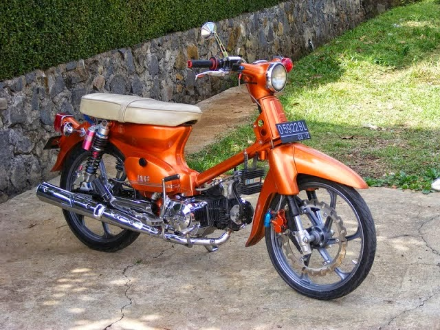 modifikasi motor honda 70