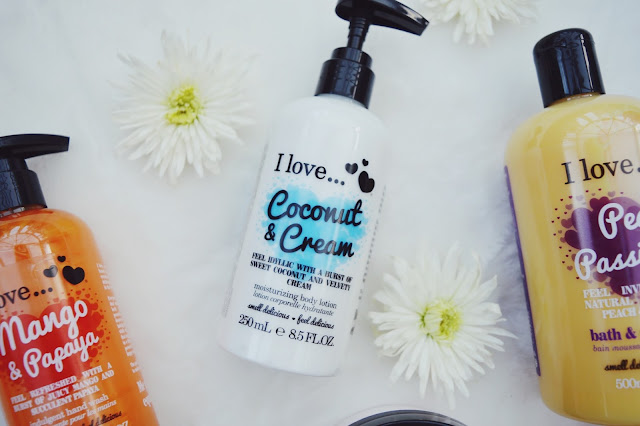 I Love... Coconut & Cream body lotion review, I Love... skincare review, beauty blog, FashionFake