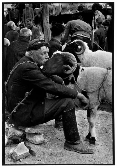 "40 Amazing Historical Pictures - Crete. 1967. Shepherd at market.""A Greek Portfolio"""