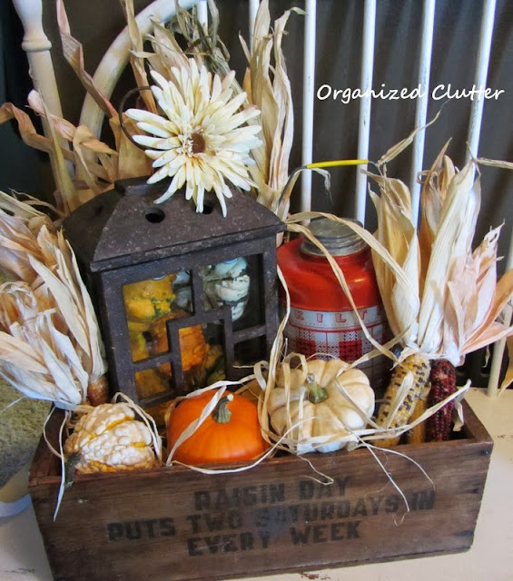 Fall Wooden Crate Vignette