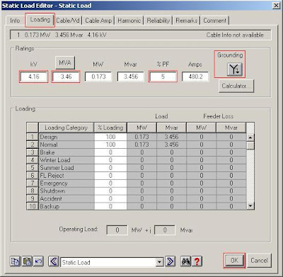 ETAP Static Load Editor