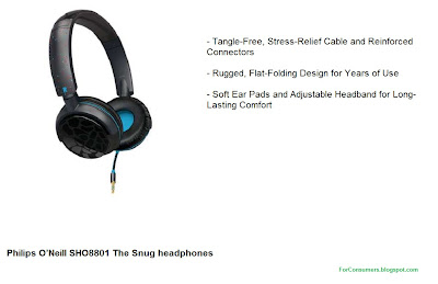 Philips O'Neill SHO8801 The Snug headphones product review