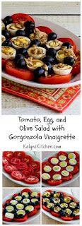 Tomato, Egg, and Olive Salad Recipe with Gorgonzola Vinaigrette (Low-Carb, Gluten-Free, South Beach Diet) [from KalynsKitchen.com]