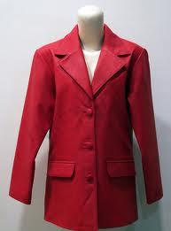 Jaket Kulit Wanita Warna Merah