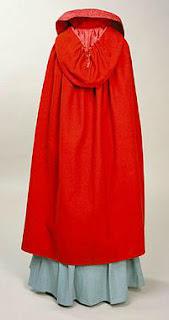 a rectangular mid-calf length cloak