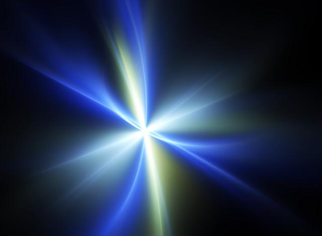 Explosão de luz, fractal