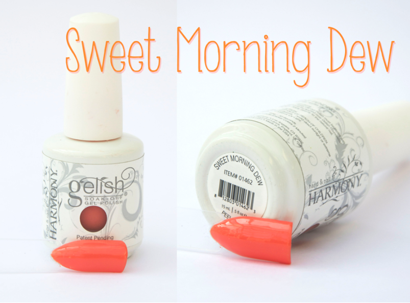 Gelish Sweet Morning Dew Spring Summer Gel Nail Varnish Peach Orange