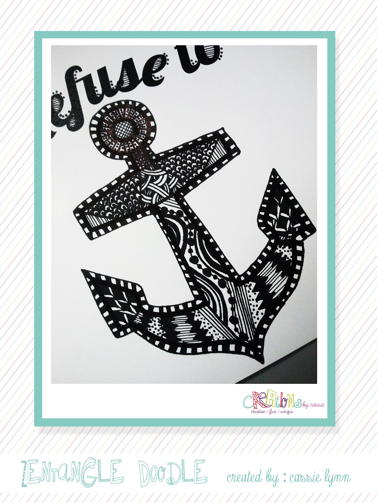 Creations By CassieLynn: Happy Zentangle Wednesday...on a Thursday!