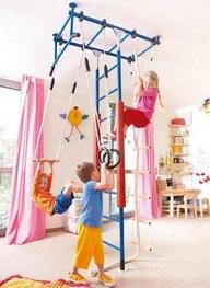 Header creative diy ideas to make a fun kid zone inside for Basement jungle gym