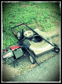 broken lawn mower
