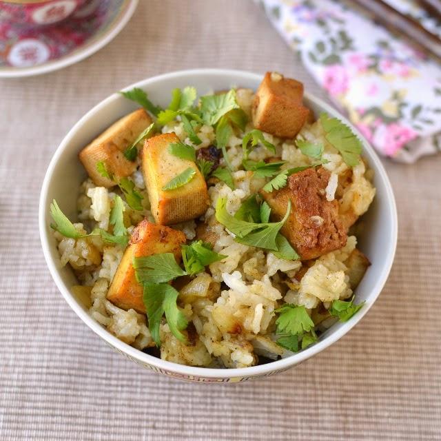 Meghalaya -- Vegetarian Jadoh (with Tofu)