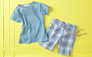 MyHabit: Peas and Queues: Collection for Little Boys - This collection of cool tees, shorts and polos is filled with not so simple basics that are sure to be worn all summer long.