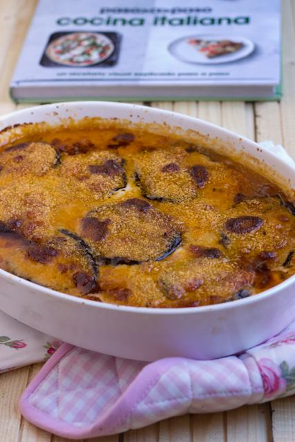 Berenjenas asadas con mozzarella y parmesano
