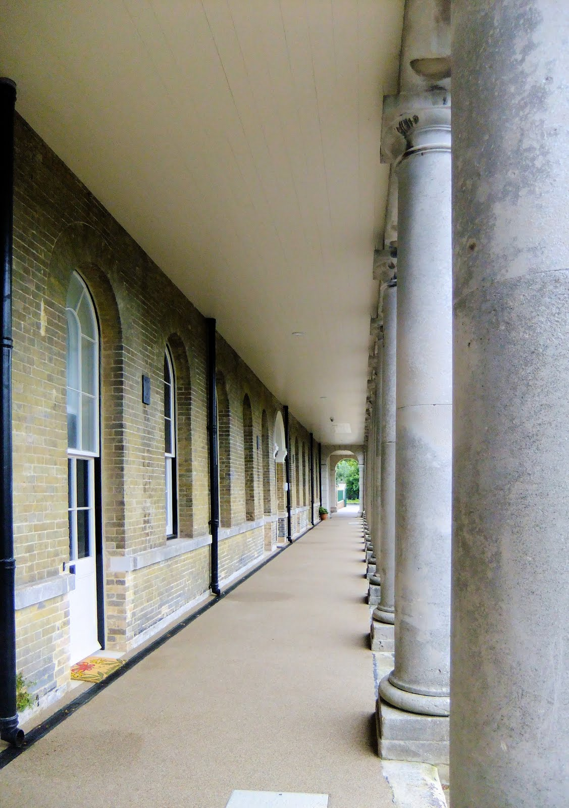 Restored colonnades
