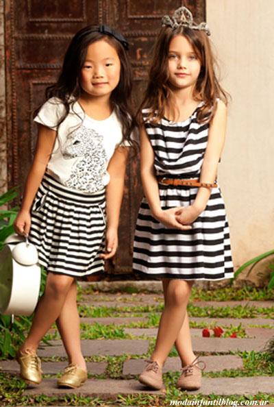 vestidos para nenas moda primavera verano 2014