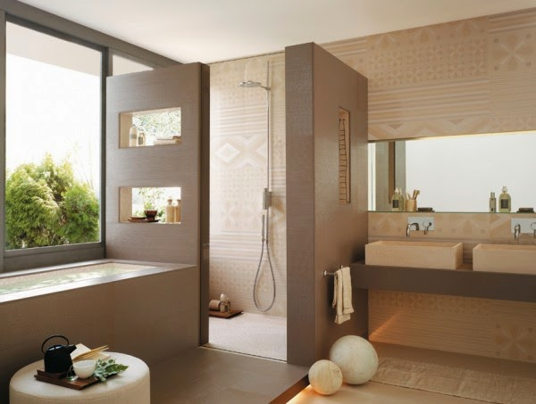 3 صور تصاميم حمامات عصرية   ديكورات حمامات كبيرة و ضيقة   الوان و نقوش حوائط حمامات مودرت