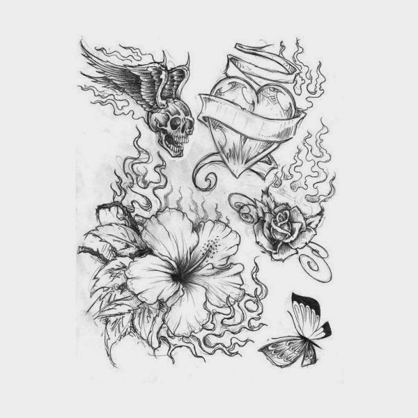 Cool tattoo designs on paper hair and tattoos for Drawing tattoos on paper