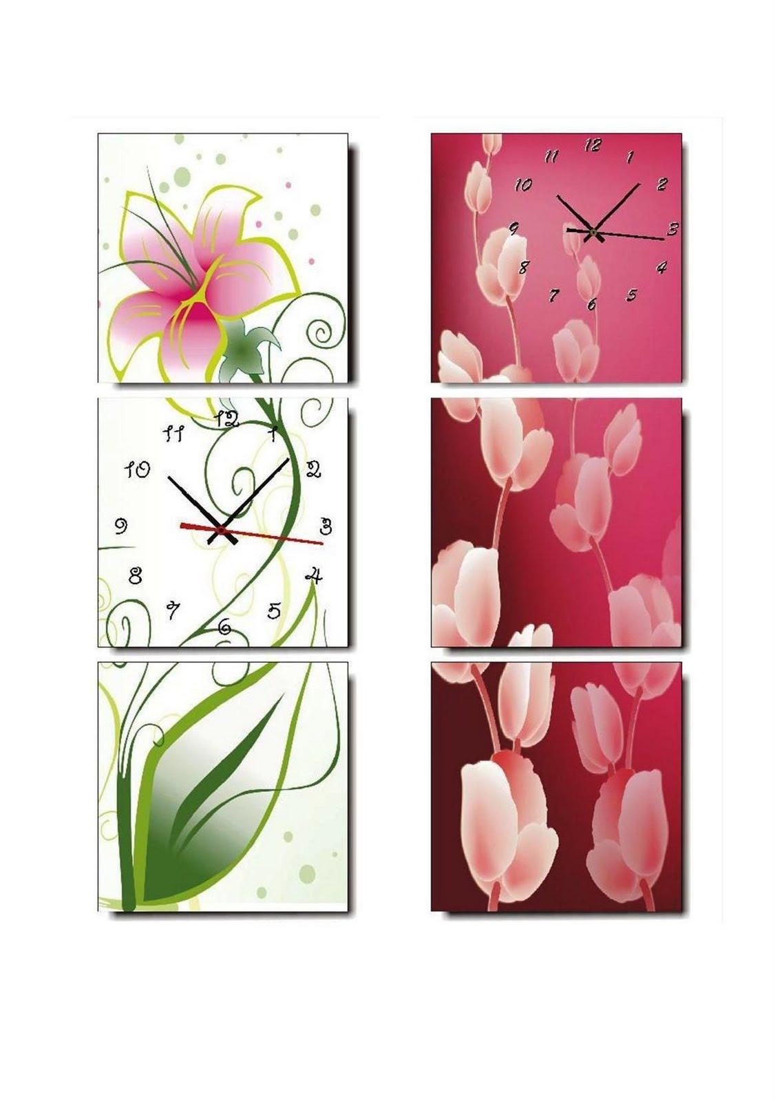 large wall clocks Vertical Panels Art Wall Clocks