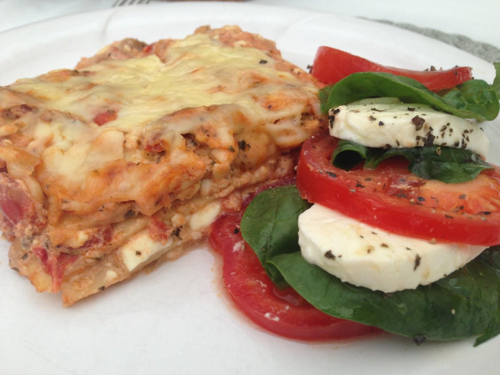 vegetarisk lasagne fetaost spenat