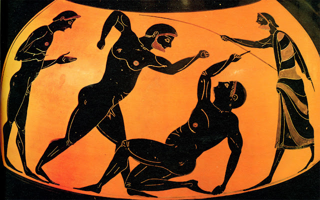 an analysis of the ancient olympic games in contrast to the modern world
