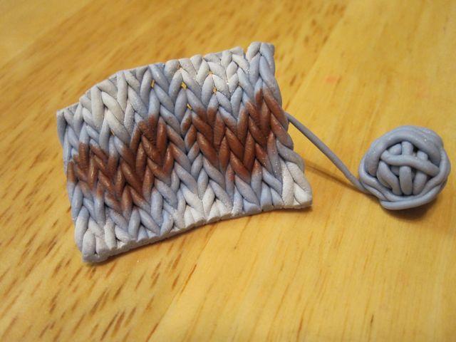 Wool Knitting Tutorial : Creator s joy how to knit with fimo yarn a diy polymer