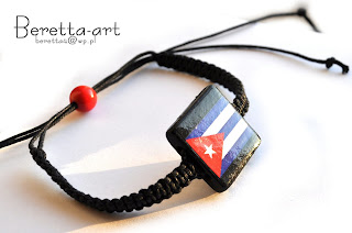 bransoleta z flagą kuby