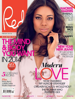 Magazine Photoshoot : Naomie Harris Photoshot For Red Magazine UK February 2014 Issue