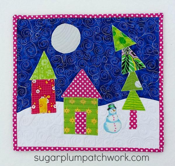 Snow scene mini quilt