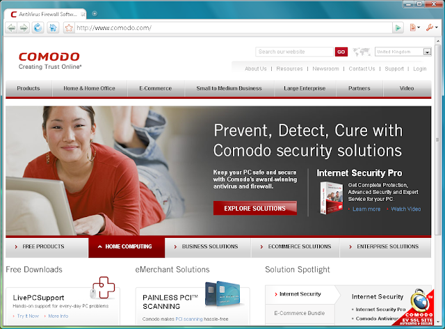Comodo Dragon 27.2 - Browser Interface