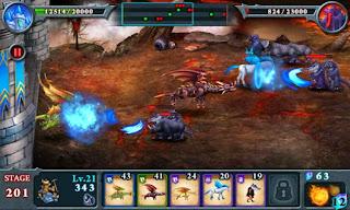 صورة من داخل اللعبة Fort Conquer علي احد الاجهزة الاندرويد