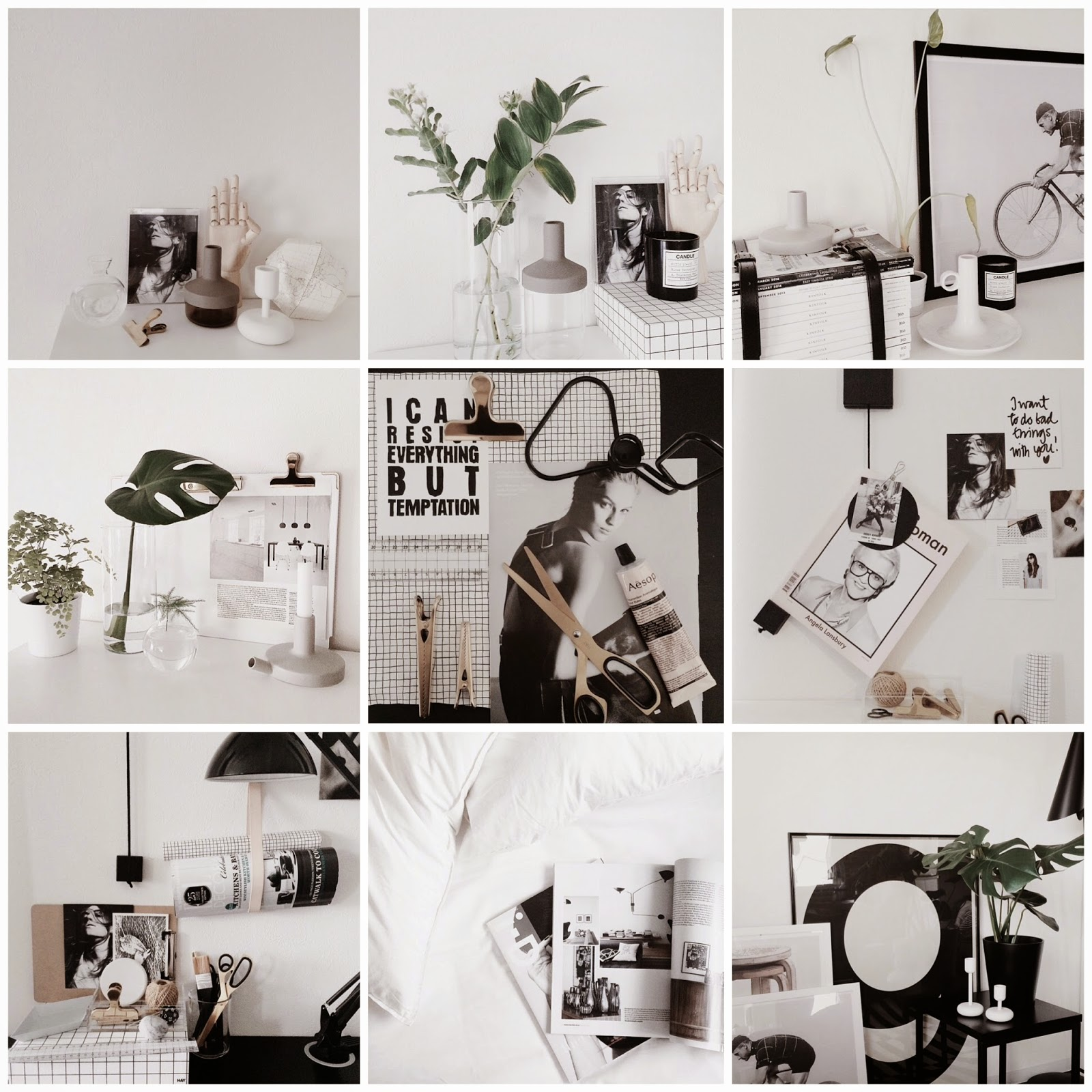 instagram favorite @lotta_206, black and white styling, monochrome, scandinavian design, scandinese