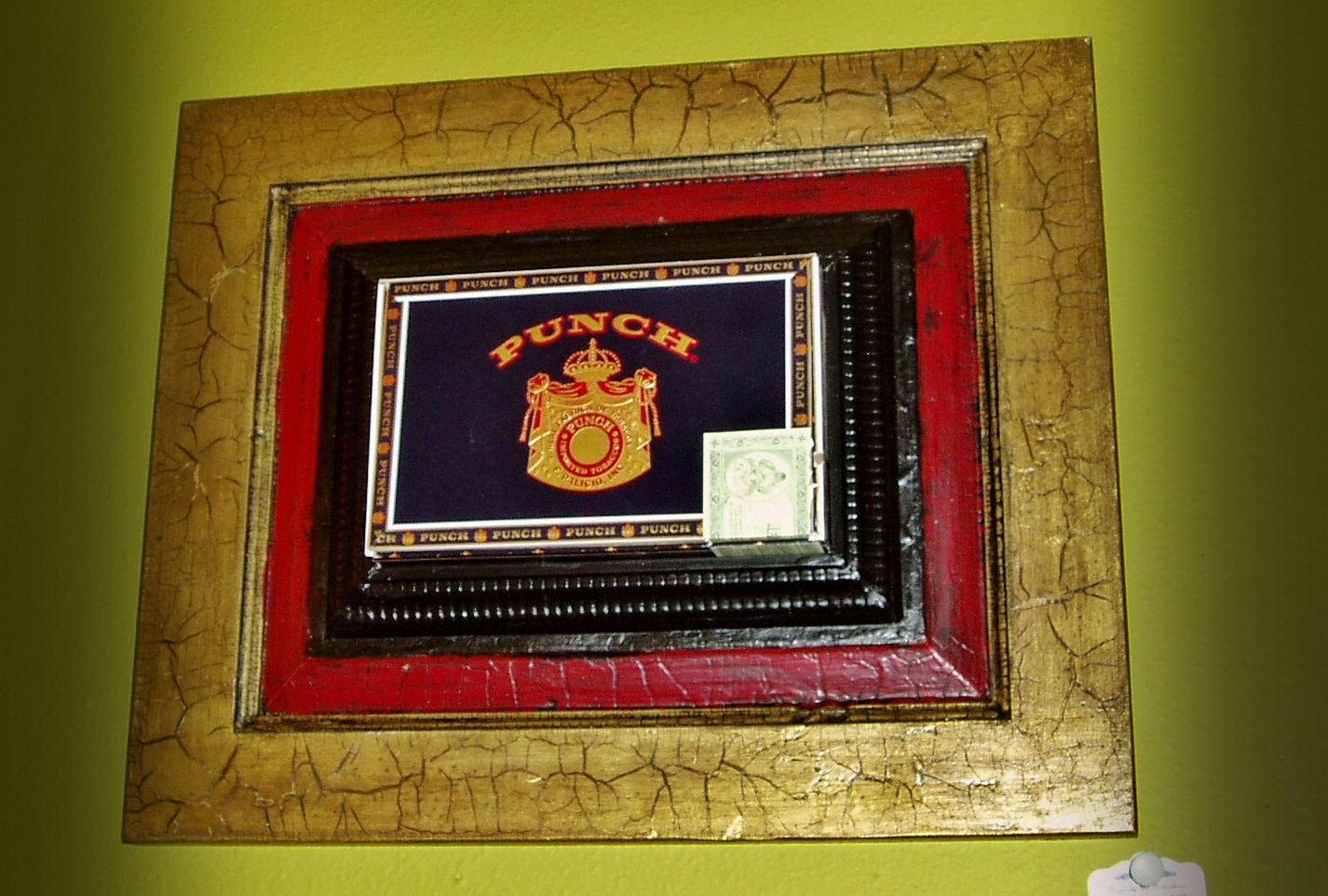 "Cigar Box Wall Art Punch""-cigar Box Wall Hanging"