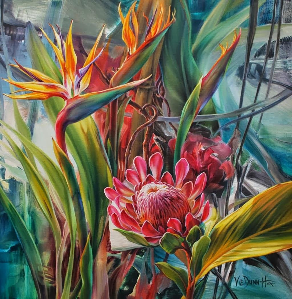 Berikut ke 29 Gambar Lukisan Bunga yang bisa jadi referensi bagi anda ...