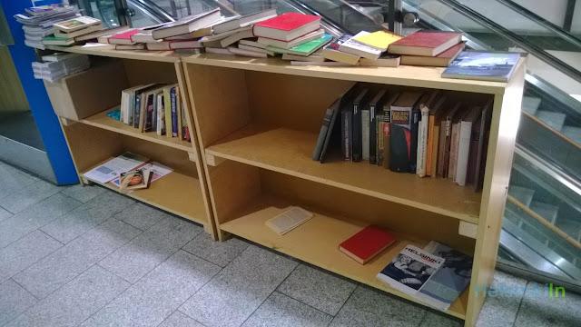 book shelf at Kamppi Kauppakeskus