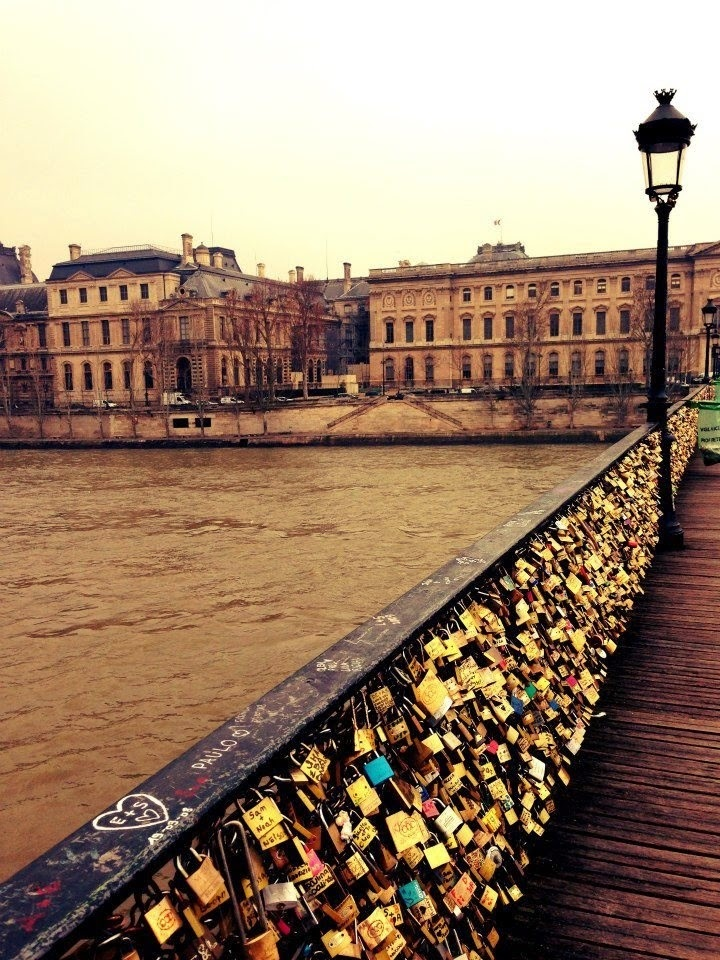Love lock bridge, Paris France.