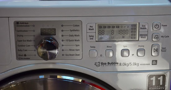 Samsung Front Load Washing Machine with Eco-Bubble Technology
