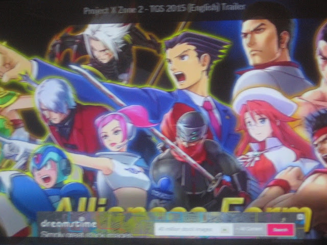 Project X Zone 2 Tokyo Game Show 2015 trailer Phoenix Wright Watchup