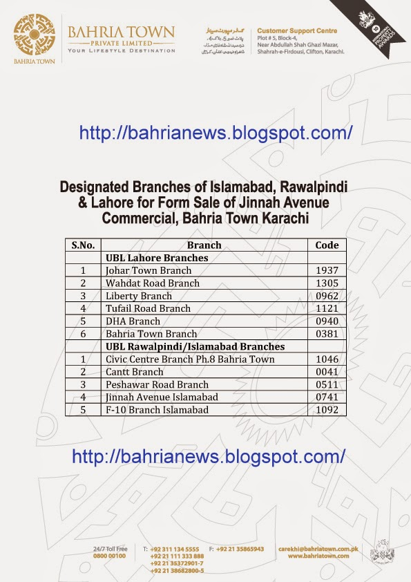 Bahria town islamabad postal code